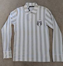 Dolce & Gabbana Striped Soccer Football Referee Jersey Polo Shirt 46 M NWT New