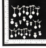 Chipboard Embellishments for Scrapbooking - Christmas Shapes 25174
