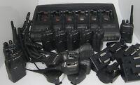 8 x Motorola GP344 - UHF  GP 344  mit 6 Fachladestation Schnelllader Rasierer