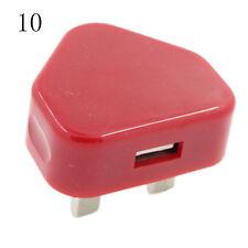 UK Plug Mains Wall 3 Pin USB Power Adaptor Charger For Mobile Phone Tablet ÑGsa
