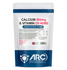 Calcium Carbonate and Vitamin D Tablets- Healthy bones and teeth VEGETARIAN