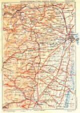 Bas-rhin. saverne, strasbourg, ste. odile, schirmeck, sélestat 1939 old map
