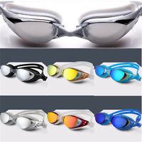 Swimming Googles Anti Fog UV Protection Earplug Swim Pool Water Sport Glasses