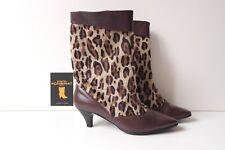 Mälich Damen Stiefel Stiefeletten Schuhe TRUE VINTAGE 50er Leopard Stil NOS 60er