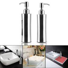 Stainless Steel Soap Dispenser Bathroom Shower Lotion Liquid Storage Pump Bottle