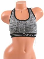 Calvin Klein Performance Reversible Med-Impact Sports Bra XS Gray NWT