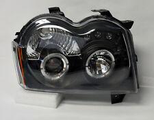 Black Projector Halo Angel Eye Headlights Pair Fits Jeep Grand Cherokee 05-07