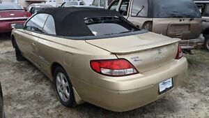 2001 Toyota Camry Solara SLE regulator assy right quarter panel OEM 69083-AA010