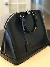 Beautiful Louis Vuitton Electric Epi Alma GM purse with silver hardware