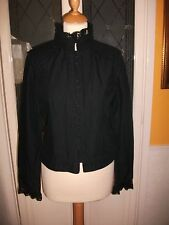 BNWT Ladies black Victorian/Gothic lace trim jacket
