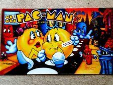 Bally Mr and Mrs PAC Man  pinball machine translite