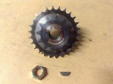 """Scott bonnar 45 rover 45 hardened dual cutter sprocket, 14"""" 17"""" with key and nut"""