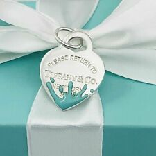 NEW Return to Tiffany™ Color Splash Heart Tag Charm with pouch