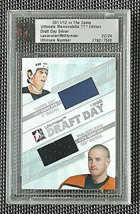 2011-12 ITG ULTIMATE - VINCENT LECAVALIER - ANTERO NIITTYMAKI - DRAFT DAY JERSEY