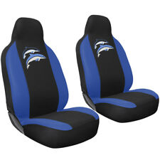 Car Seat Covers Embroidered  Dolphin 2pc Bucket for Auto Integrated Head Rests