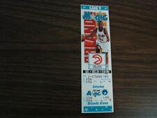 Orlando Magic vs Atlanta Hawks Unused Ticket Stub 12-10-94