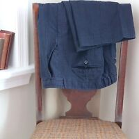 Patrizia Pepe Cotton Casual Pants 48 33X33 Dark Gray Blue Plaid Heavy Italy Used