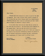 Mahatma Gandhi Letter to Adolph Hitler Reprodutction On 75 Year Old Paper *P025