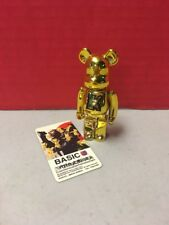BearBrick Be@rbrick Metallic Gold Yellow Basic Letter K Shigeo Series 22 Figure