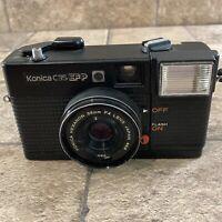 KONICA C35 EFP EF P 35mm Film Camera Rangefinder Flash w/ 38mm f4 Untested As-Is