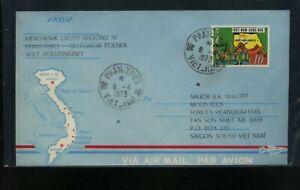 Vietnam  blue  military  cachet  cover  1973    MS0626
