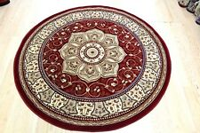 Traditional Persian DESIGN ROUND RUG COLOUR RED  Size 150x150cm NOW ON SALE