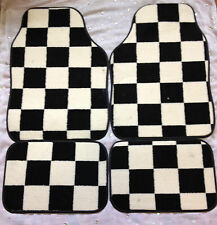 CHEQUERED CHECK FLAG CAR FLOOR MATS FOR ROVER MINI MAYFAIR CITY 25 75 45 618 620