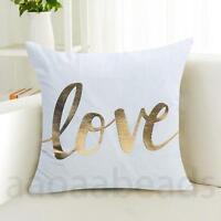 Vintage Quote Throw Pillow Case Cotton Sofa Waist Cushion Cover Car Decor WE