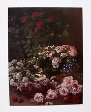 Claude MONET Signed Lithograph SPRING FLOWERS 1864