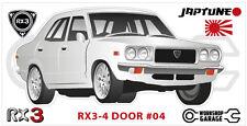 Mazda Rotary RX3 - 4 DOOR Sticker - #04