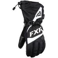 FXR Fuel Snowmobile Glove Black White