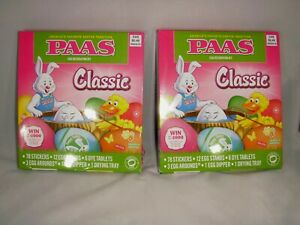 2 new Classic boxes of Easter egg coloring kits... PAAS