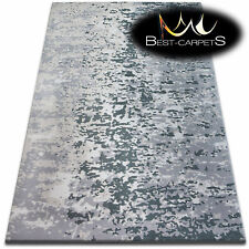 """SOFT ACRYLIC RUGS """"BEYAZIT"""" grey Very Thick And Densely Woven HIGH QUALITY"""