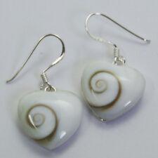 Heart Shiva Eye Earrings Sterling Silver  1028