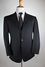 Brooks Brothers Golden Fleece Black Suit 40R (34x31) 3 Button Hand Tailored Wool