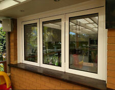 WHITE BIFOLD WINDOW|ALUMINIUM - DOUBLE GLAZED - 1200h x 1810w