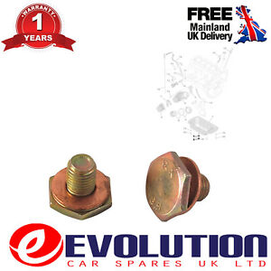 1 X OIL SUMP DRAIN PLUG WITH WASHER FITS CITROEN PEUGEOT 1.4 HDi 1.6 HDi 0311.29