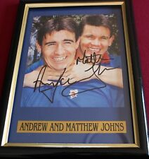 ANDREW JOHNS & MATT JOHNS*~SIGNED & FRAMED~*KNIGHTS + COA