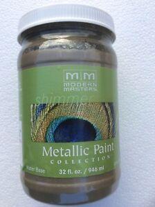 Modern Masters Metal Effects Shimmer Metallic Paint Nickel 32 oz 946ml ME708