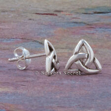 925 Sterling Silver CELTIC TRIQUETRA Irish Trinity Knot stud post Earrings
