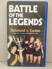 BATTLE OF THE LEGENDS ~ RICHMOND v CARLTON ~ 1990 ~ VERY RARE AFL VHS VIDEO