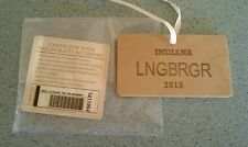 Longaberger Wood Crafts 2015 License Plate tie-on Indiana NEW in bag