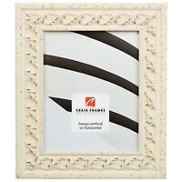 """Craig Frames Swedish Country, 2.125"""" Off-White Scandinavian Style Picture Frame"""