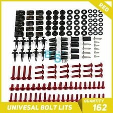Red 162Pcs Fairings Bolt Kit Fastener Nuts Screws fit Yamaha R1 R3 R6 R125
