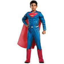 Batman v Superman Dawn of Justice Kids Deluxe SUPERMAN Costume Size Small 4-6
