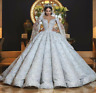 Luxury Wedding Dresses Bridal Ball Gowns Off Shoulder Rhinestone Beading Lace
