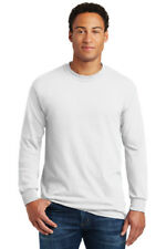 Gildan Heavy Cotton Long Sleeve T Shirt Mens Blank Casual Plain Tee Sport 5400