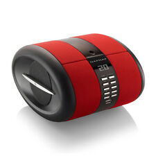 NAFNAF SENSE tragbarer Radio mit Weckfunktion CD, USB, MP3, Bluetooth in rot