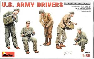 MiniArt WWII US Army Drivers , Figures in 1/35 180 ST A1