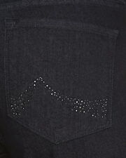 Not Your Daughters Jeans NYDJ TummyTuck Dark Denim Bling Bootcut Jeans Size 8
